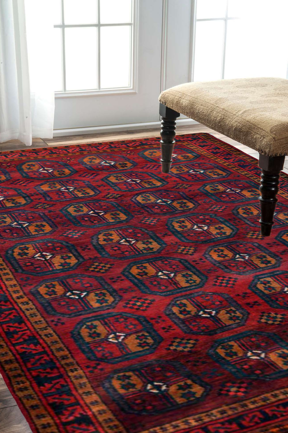 Bokhara Rouge Rug Red Afghan Rugs And Carpet Online At