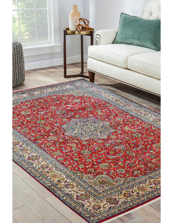 Rouge Dew Kashan Silk Area Rug