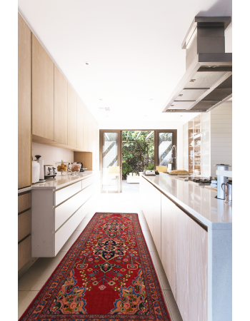 Red Iranian Passage Runner Carpet