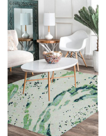 Paint Pusher Modern Handmade Area Rug