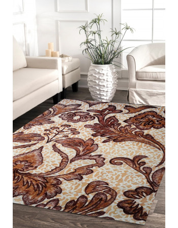Floral Branches Handtufted Wool Area Rug