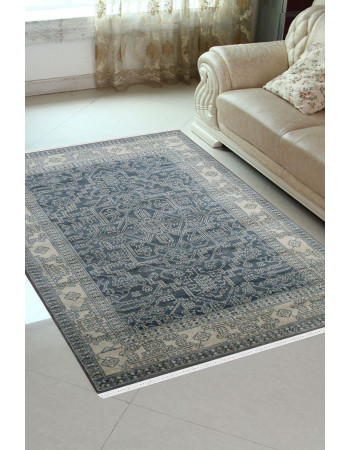 Green Blue Area Monochrome Rug