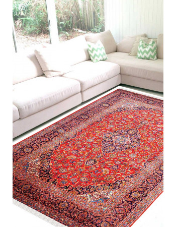 Rouge Jewel Kashan Woolen Carpet
