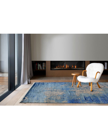 Blue Oceanic Medium Wool Carpet