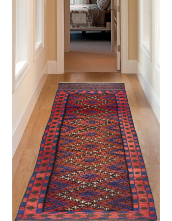 Persian Geometrical Handmade Afghan Carpet