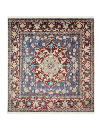 Jewish Star Square Wool Area Rug