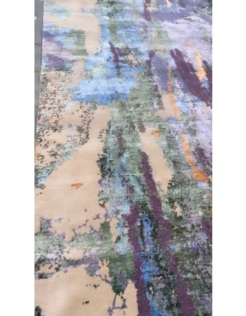 Erased Contemporary Custom Rug