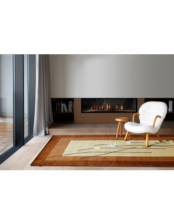 Kyoto Cream Wool Area Rug