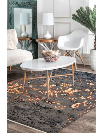 Volcanic Lava Handknotted Modern Area Rug