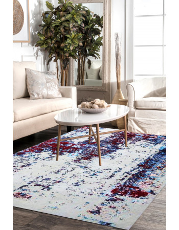 Erased Vision Handknotted Modern Area Rug