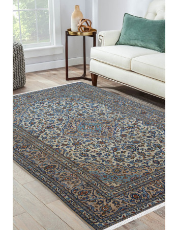 Persian Floral medallion Blue Rug