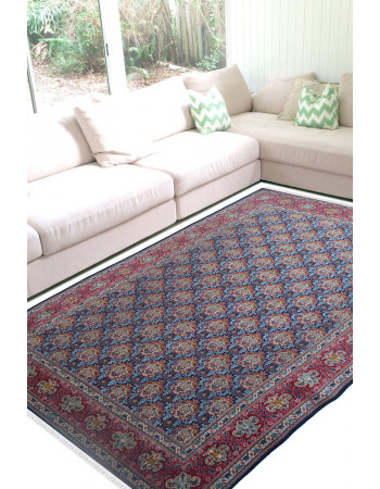Tabriz Large Area Blue Handknotted Carpet