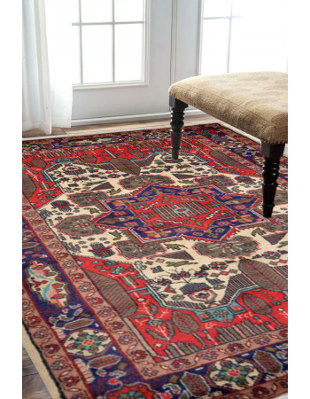 Caucasian Rouge Afghan Carpet