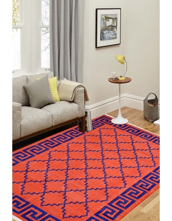 Cotton Contemporary Modern Flat-Woven Area Dhurrie