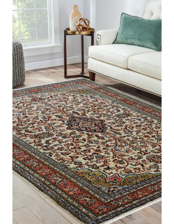 Floral Kashan Silk Handknotted Carpet