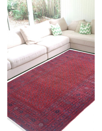 Maroon Afghani Medium Carpet