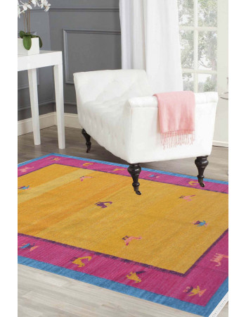 Dual Passion Woolen Area Dhurrie