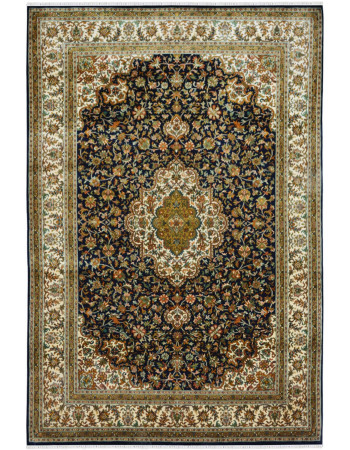 Neel All Over Kashan Bagh Silk Area Rug