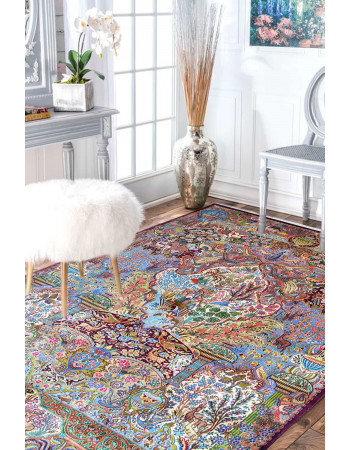 Victorian Hunting Handknotted wool Persian Area Rug