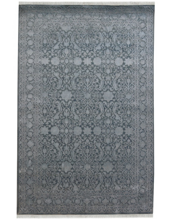 Gray Embossed Paisley Area Rug
