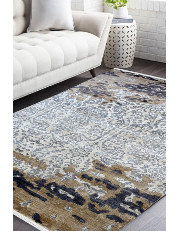 East meets West Handknotted Modern Carpet