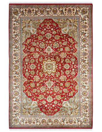 Persian Red Kashan Handknotted Area Rug