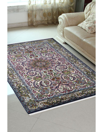 Swirling Chakra Handwoven Silk Carpet