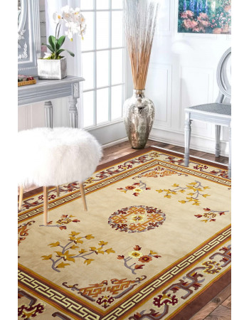 Floral Branch Beautiful Wool Area Rug