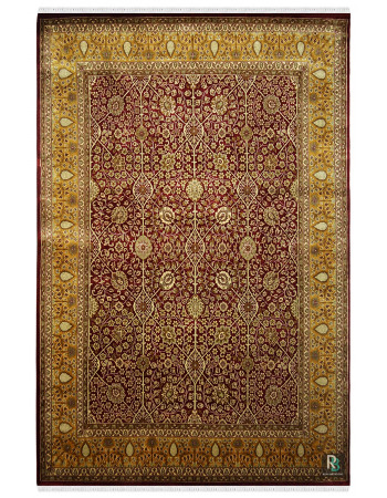 Gold Jewel Beauty Handknotted Wool Rug