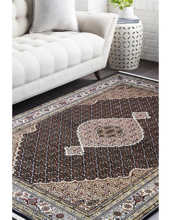 Black Chandelier Handknotted Wool Area Rug