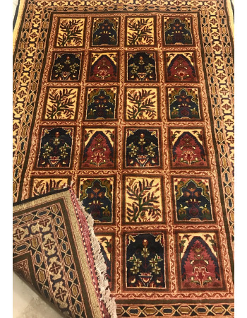 Traditional Hamadan Multi-color small Vintage Area Rug
