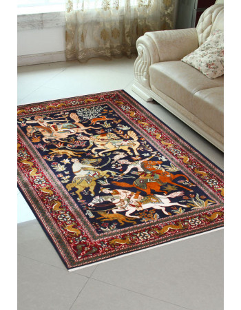 Hunting Sultanate Handmade Area Rug