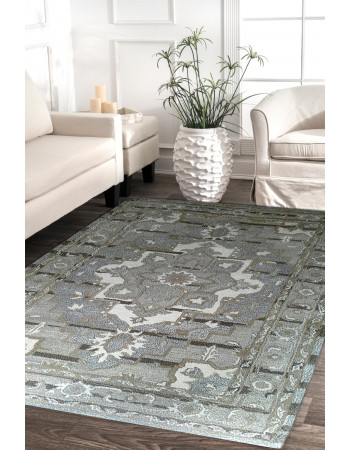Grey Medallion Modern Hand-tufted Carpet