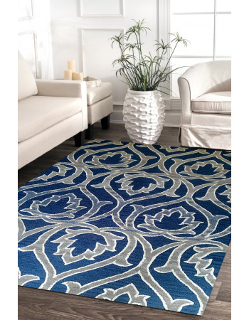 Lotus Motifs Beautiful Handmade Handtufted Carpet