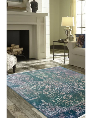 Green Depth Sea Hand Knotted Woolen Carpet