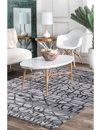 Maze Amaze Moroccan Handknotted Rug