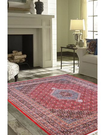 Rust Oriental Pure Wool Bidjar Handknotted Carpet