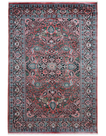 4 X 6 Traditional Persian Pink Silk Handknotted Rugs