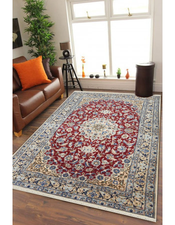 Laal Chakra Persian Maroon Antique Traditional Area Rug