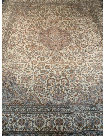 Kashan Medallion Fine Silk Carpet