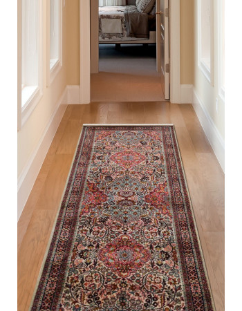 Pink 3 X 8 Kashan Traditional Runner Area Carpet