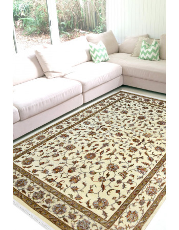 Pure Floral -All Over Kashan Woolen Rug