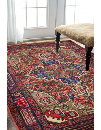 Semi Medallion Afghan Area Rug