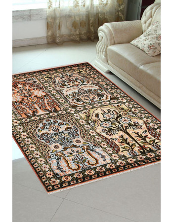 2X3 Small Hamadan Living Room Silk Carpet