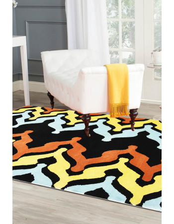 Sliding Zig Zag Contemporary Area Rug