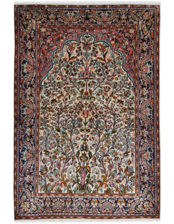 Tree of life silk on cotton persian design small area rugs