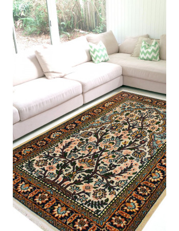Tree of Life Pastel Woolen Carpet