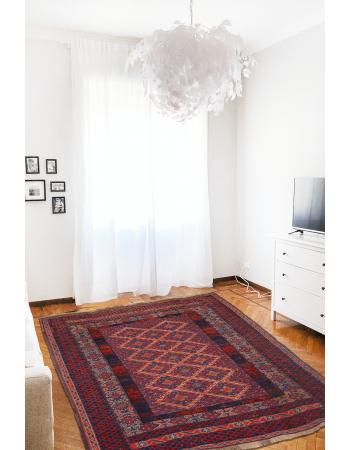 Hexagonal Wool Kilim Rug