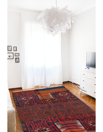 Saddle back Kilim Rug