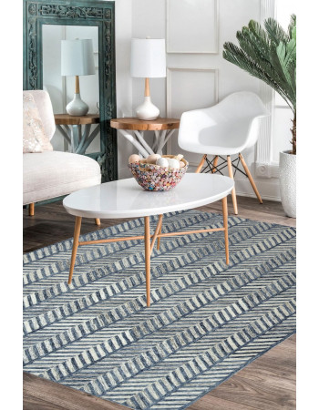 Downward Vertical Modern Area Rug